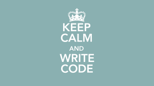 Keepcalmwritecode